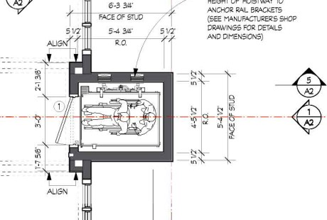 Elevator plan detail portfolio laura thomas studio for Home elevator plans