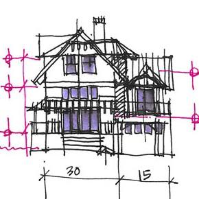 Beacon-Sketch Elevation