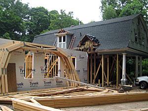 Reconstruction of Barn portion/Family room